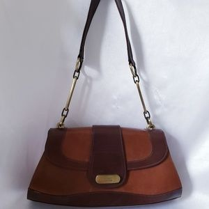 Stuart weitzman vintage brown leather handbag bag